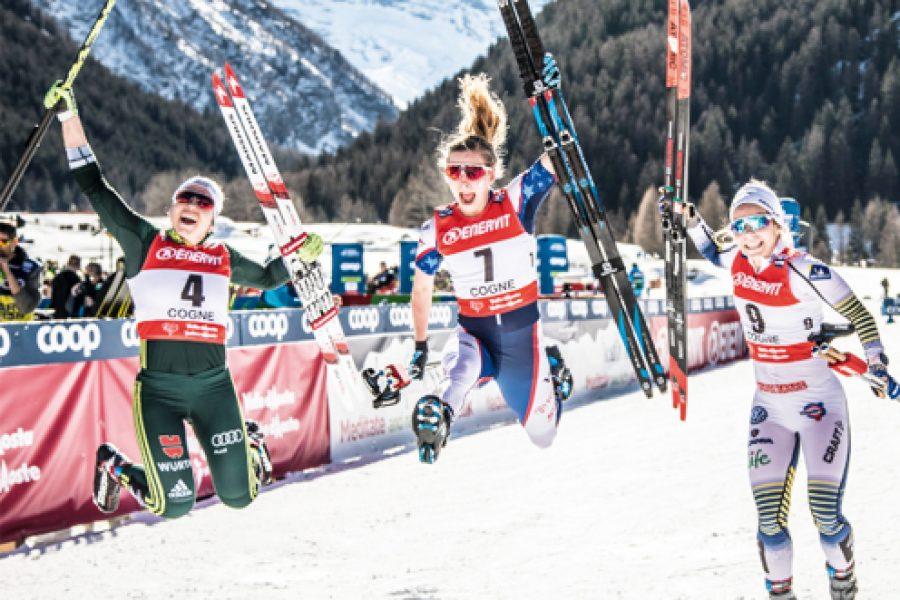 Heartfulness à la coupe du monde de ski de fond, Cogne, Italie
