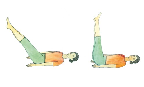 Yogasanas Heartfulness, la posture allongée Uttanapadasana