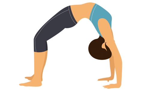 Yogasanas Heartfulness, série des positions allongées: chakrasana